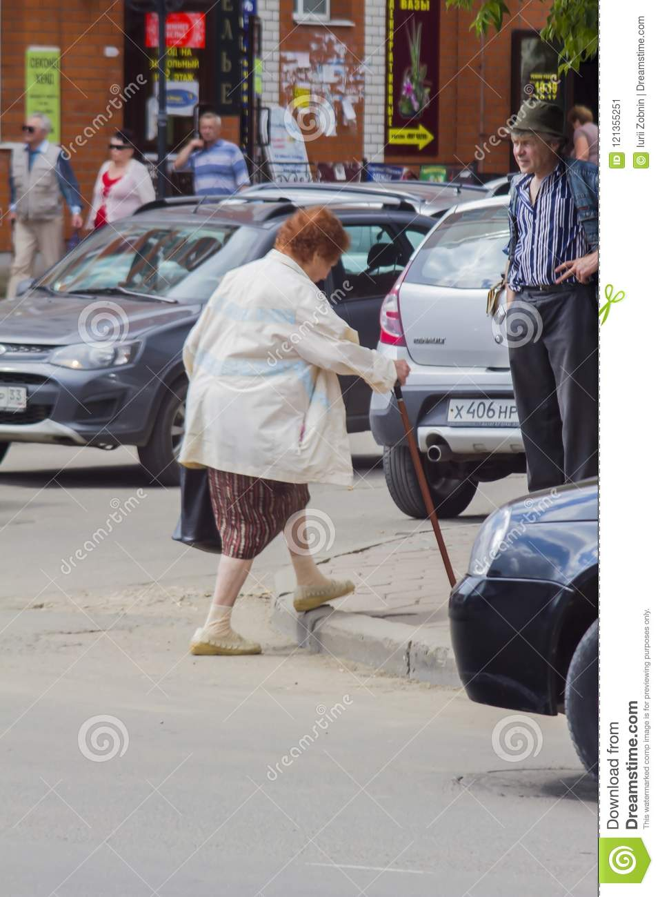 Granny with a stick