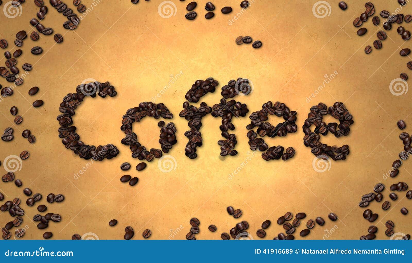 Grano de café en el papel viejo