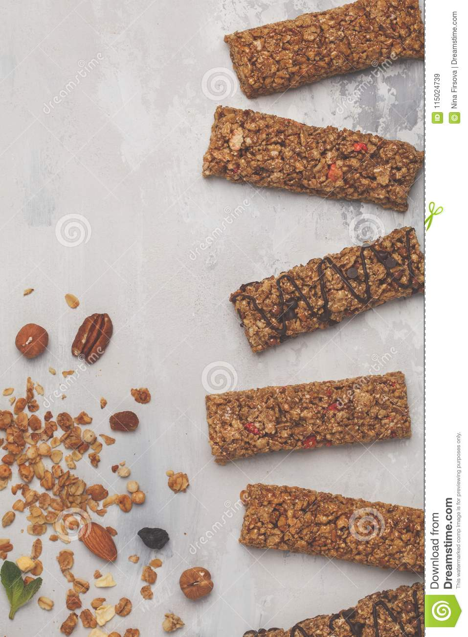 Granola bars and ingredients healthy sweet dessert snack cerea download granola bars and ingredients healthy sweet dessert snack cerea stock image image ccuart Image collections