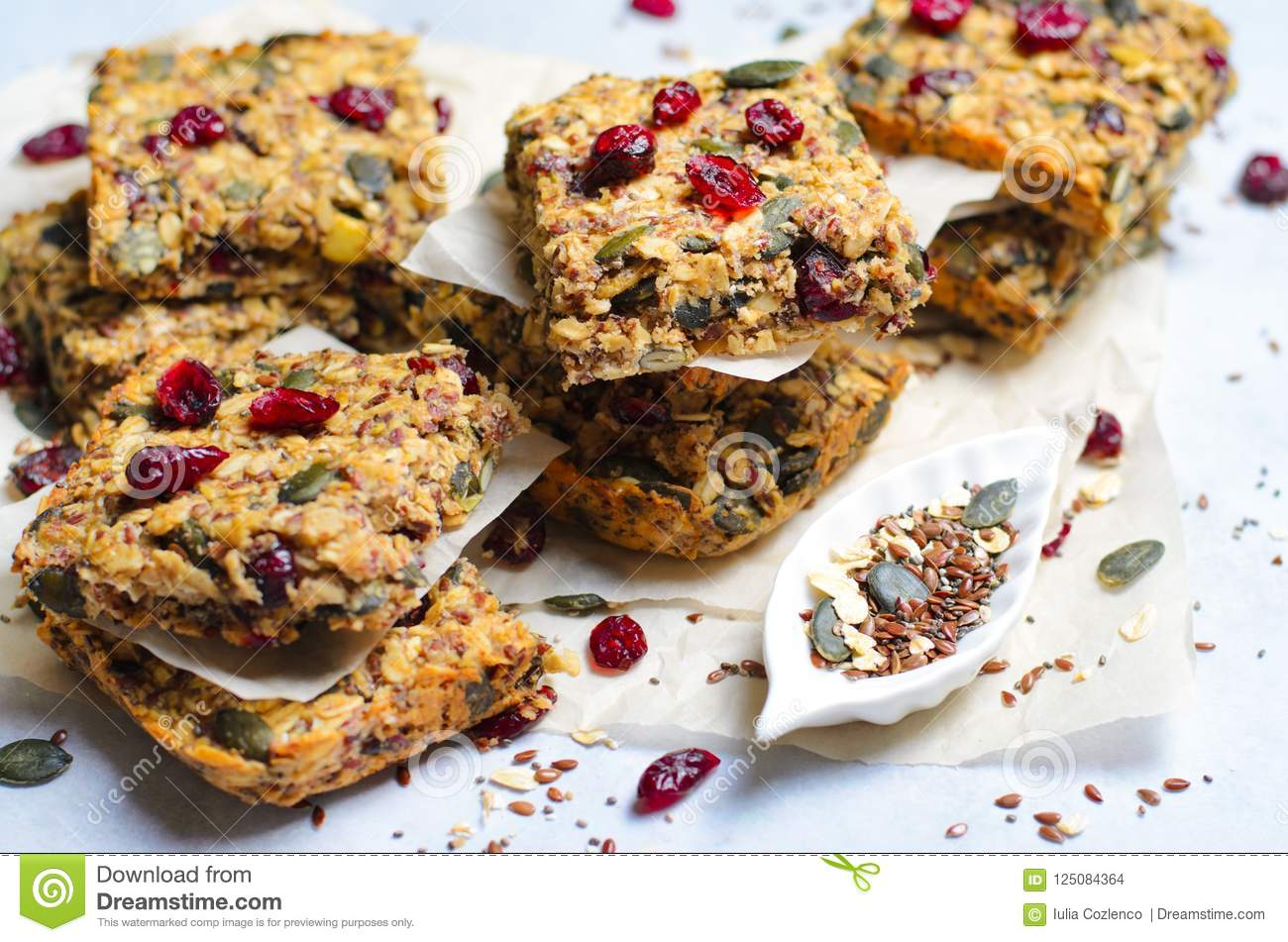 Granola Bars, Superfood Homemade Snack, Healthy Bars With