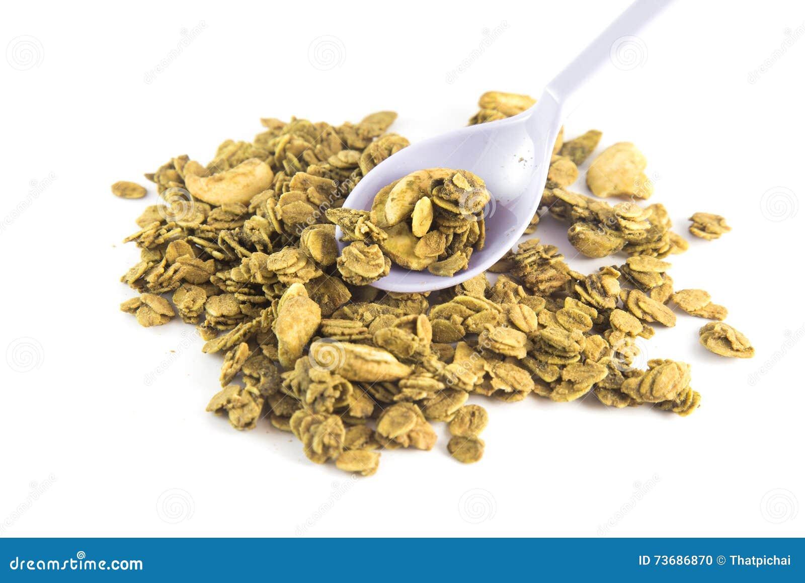 Granola fresco del desayuno sano, semillas orgánicas de la avena, de la almendra y de girasol