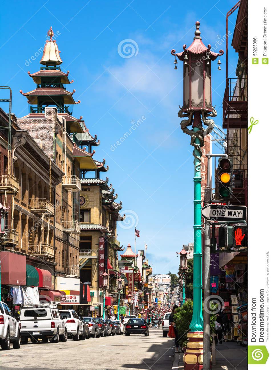 Grant Avenue en Chinatown, San Francisco
