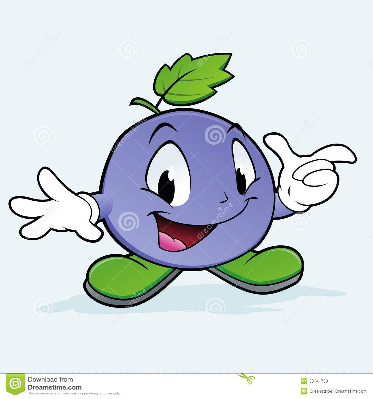 Cartoon Blueberries Pin Pinsdaddy