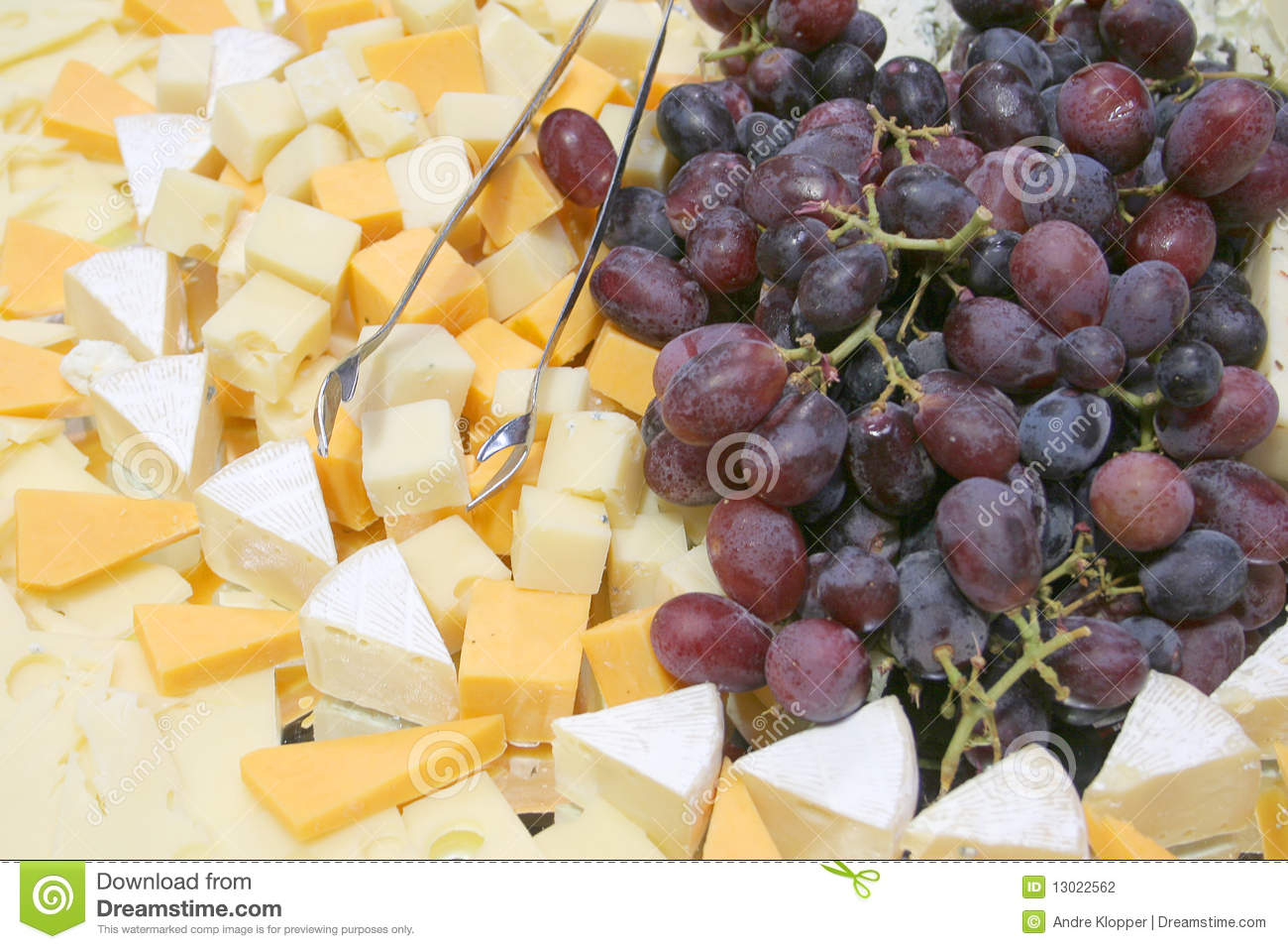 Grape Cheese Platter Stock Photography Image 13022562