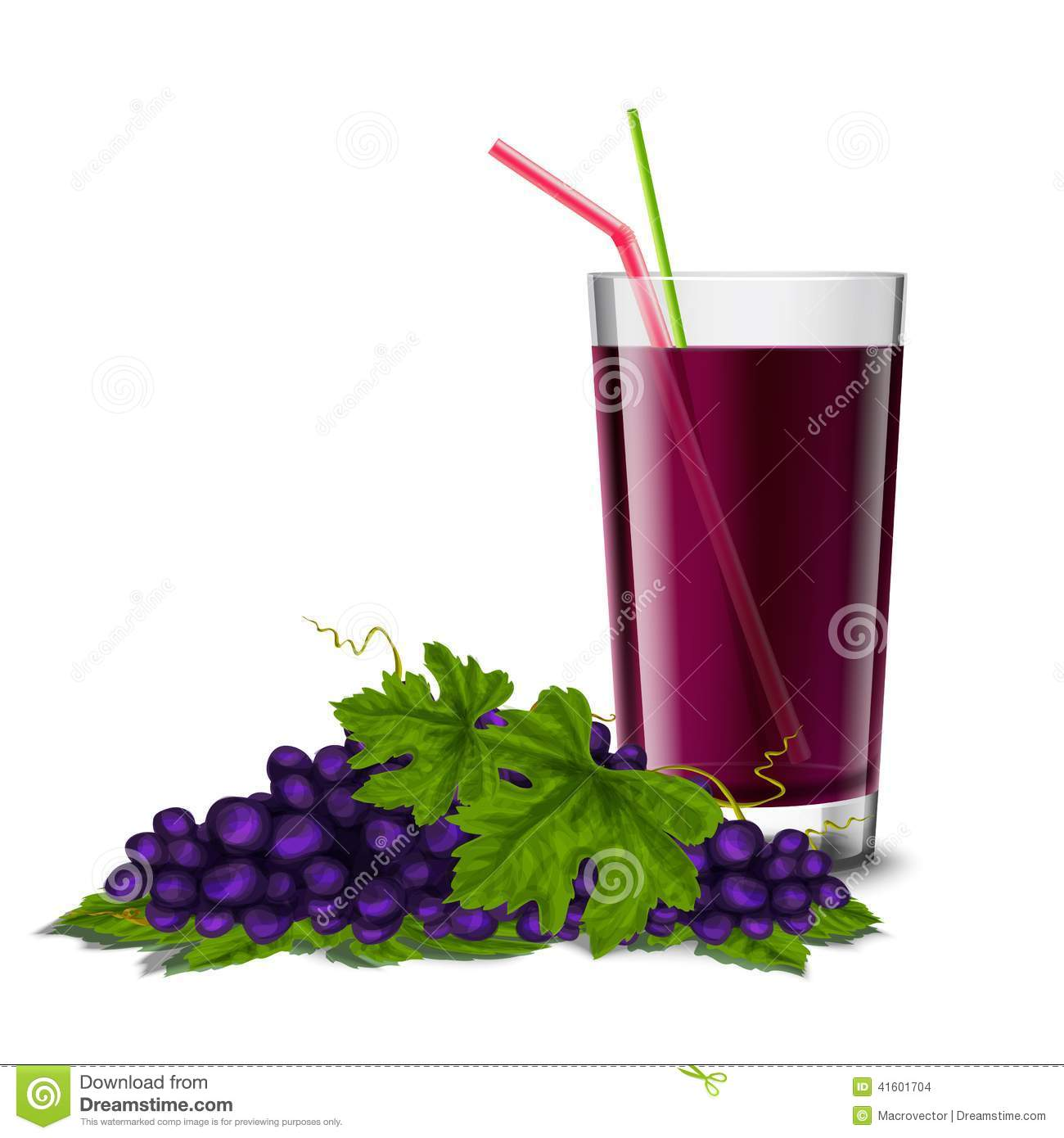 Grape Juice Glass Stock Vector - Image: 41601704