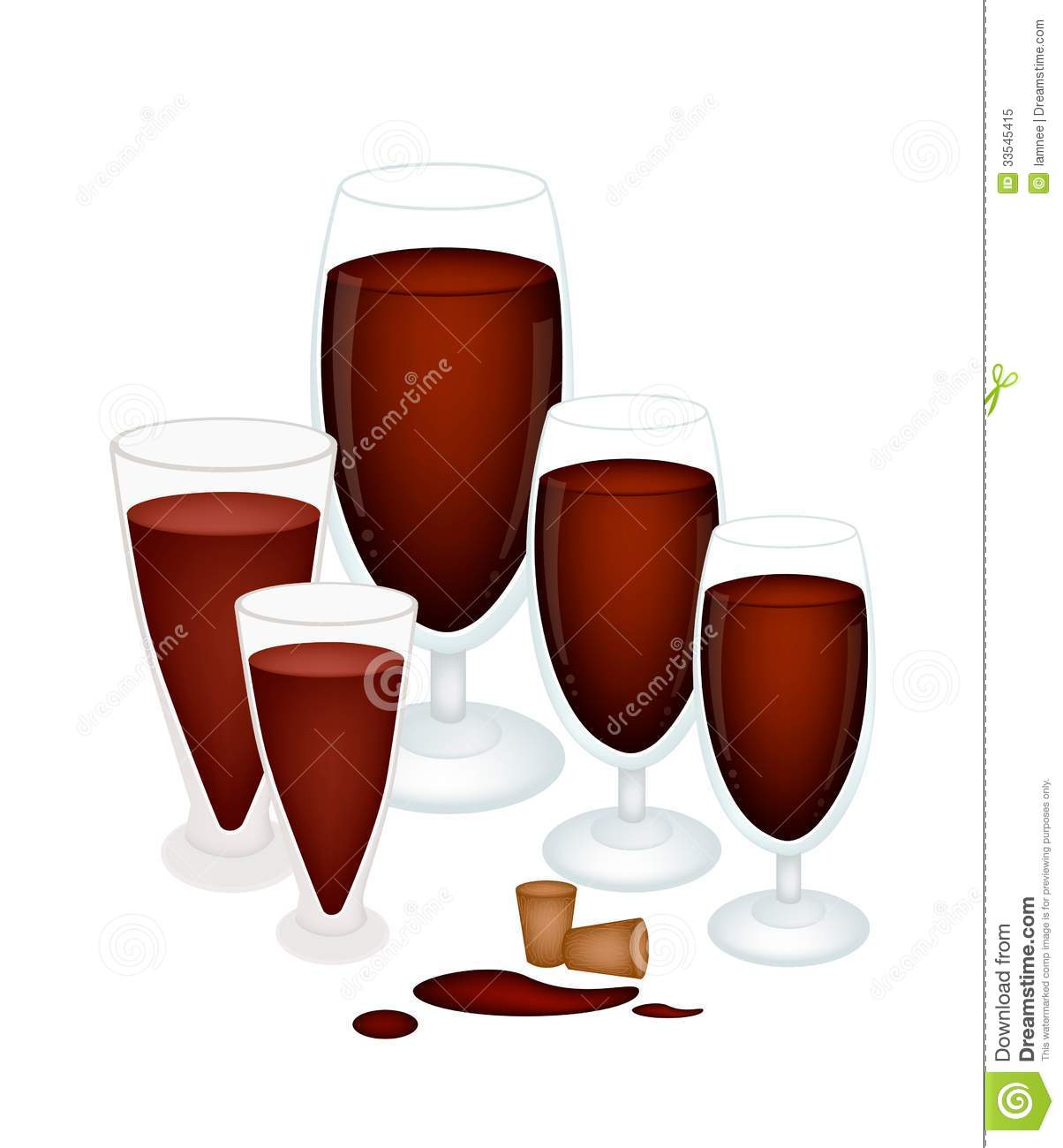 Grape Juice In Glass With Wine Cork Royalty Free Stock ...