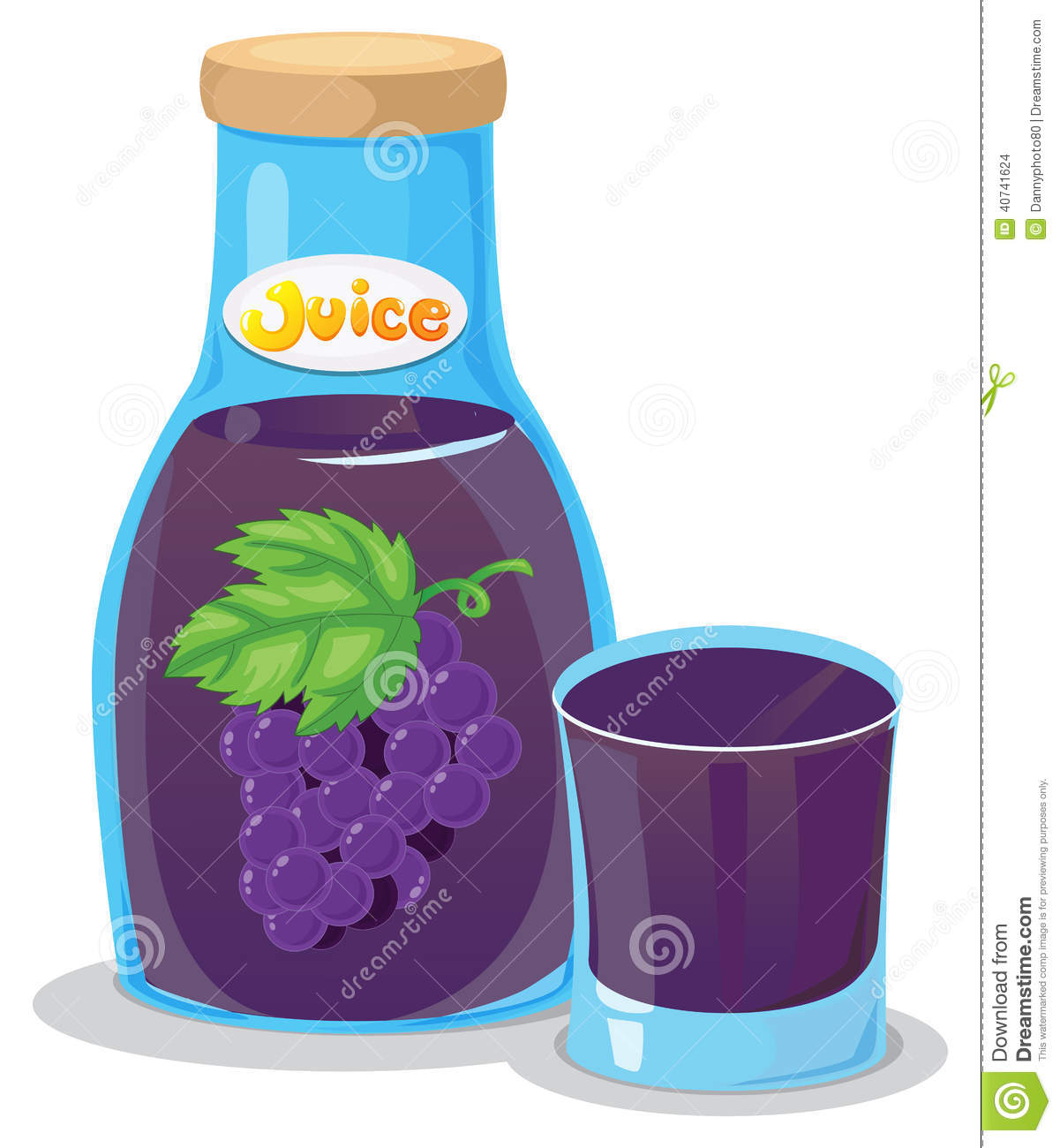 A Grape Juice Stock Vector - Image: 40741624