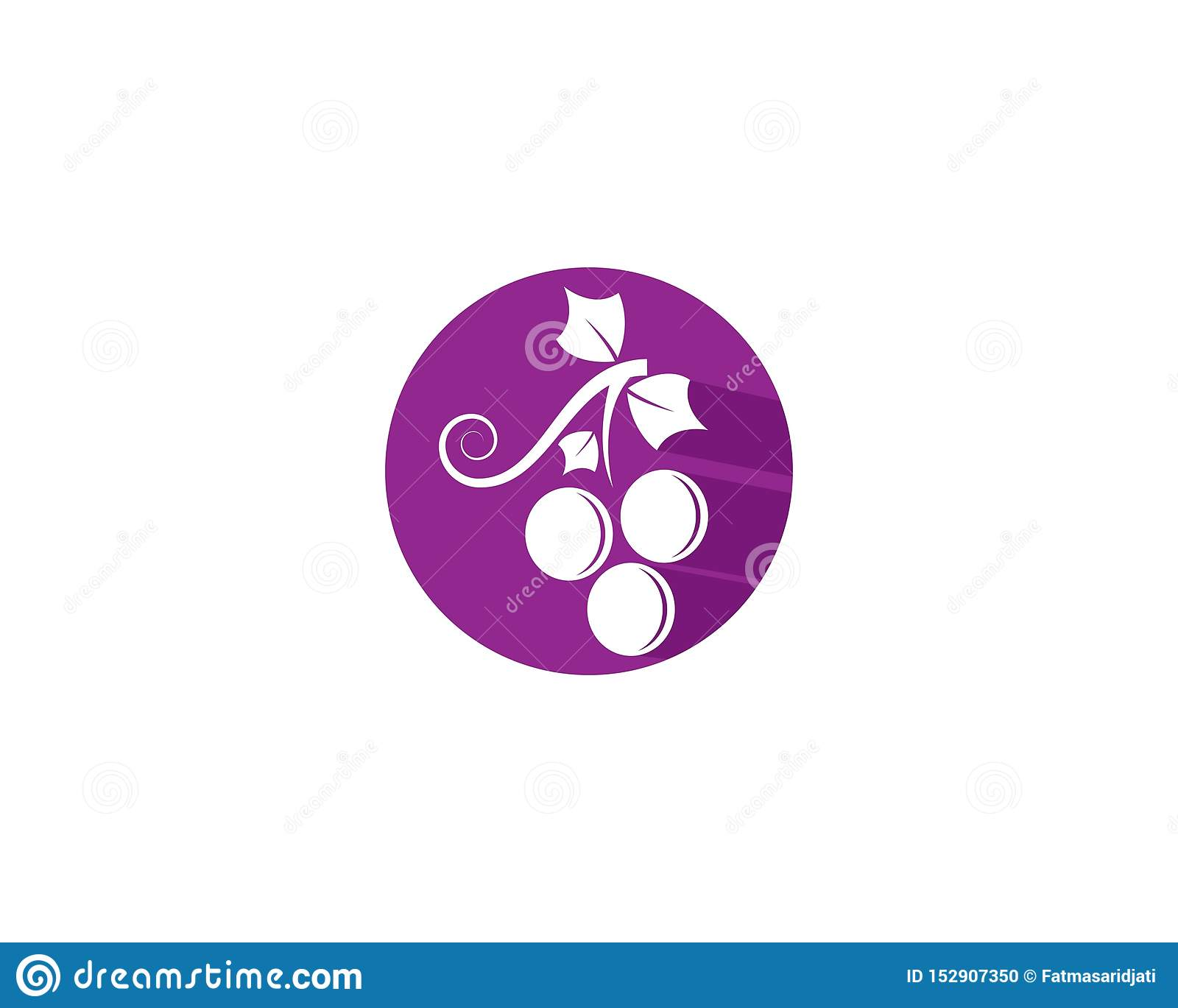 Grape logo template vector icon