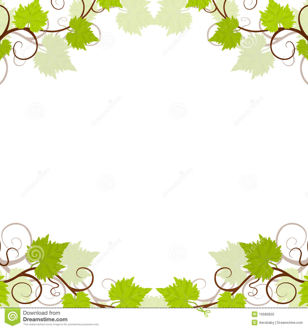 Grape Vines Background Frame. Stock Photo - Image: 19580820