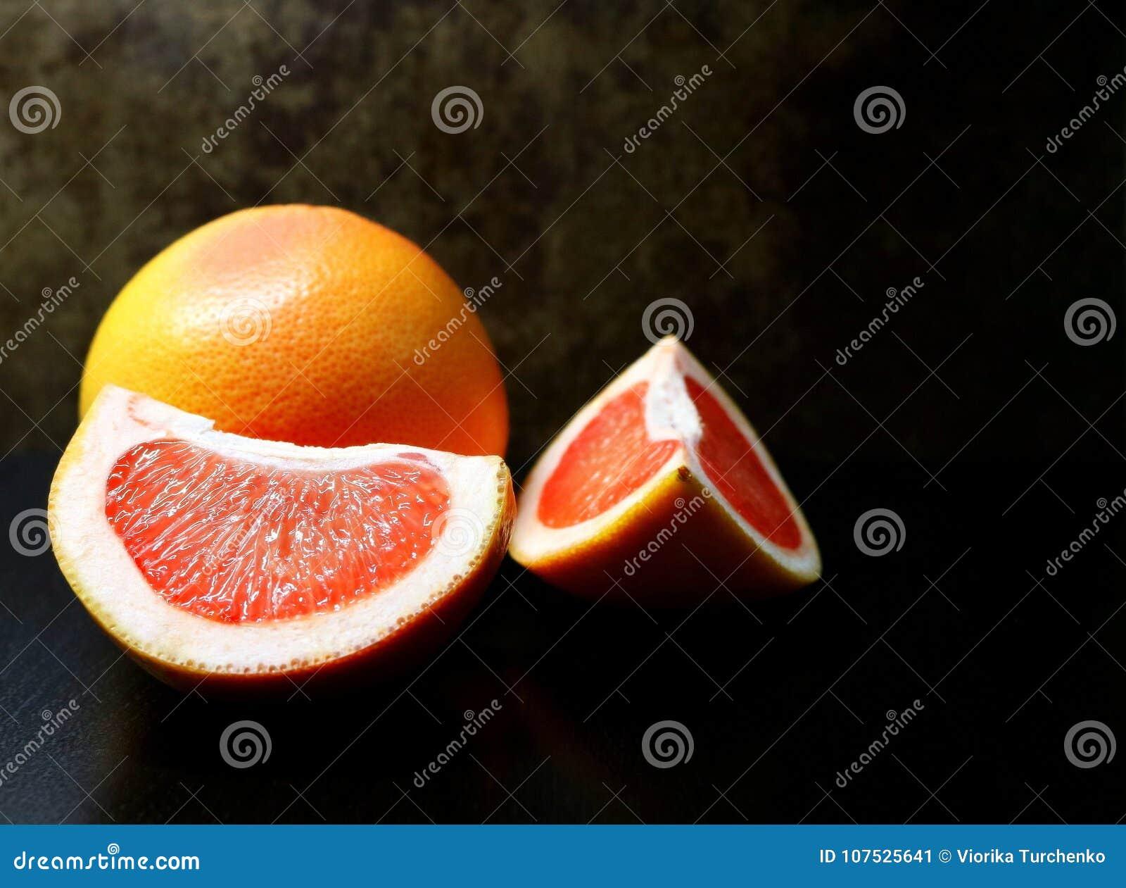 Grapefruit citrusvrucht Paradijscitrusvrucht Nuttig fruit Een subtropisch fruit Low-calorie fruit dieet voedsel Ingrediënt voor s