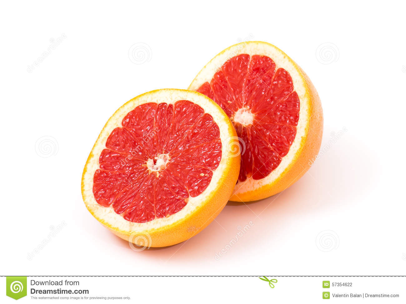 Grapefruit Halves Stock Photo - Image: 57354622