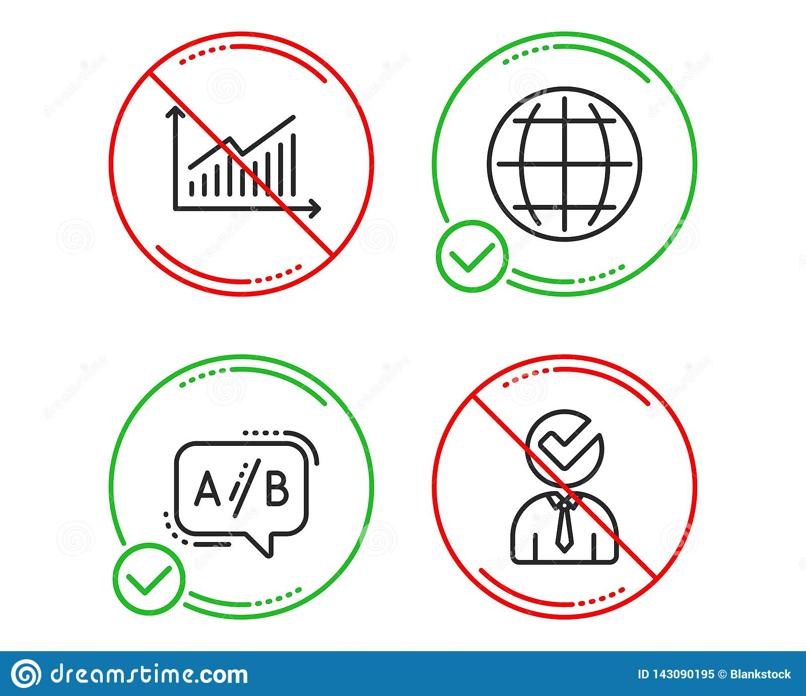 presentation diagram, test chat, internet world  businessman concept   business set  line graph do icon  prohibited ban stop