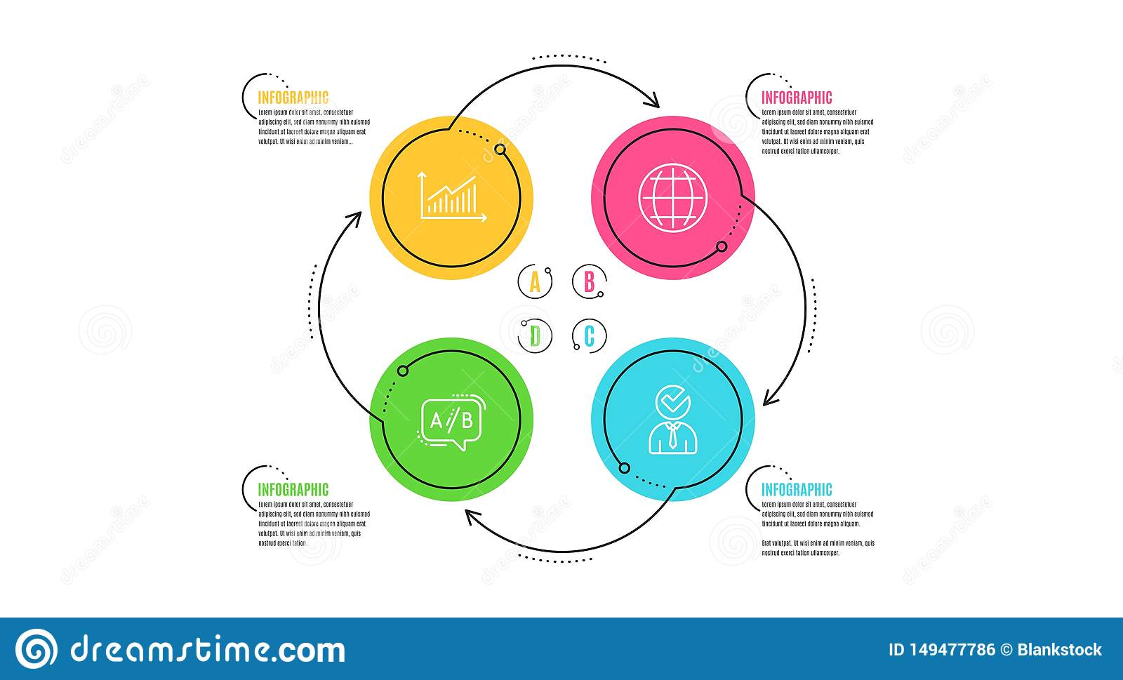 Graph, Ab Testing And Globe Icons Set. Vacancy Sign. Presentation Diagram,  Test Chat, Internet World. Vector Stock Vector - Illustration of data,  confirm: 149477786