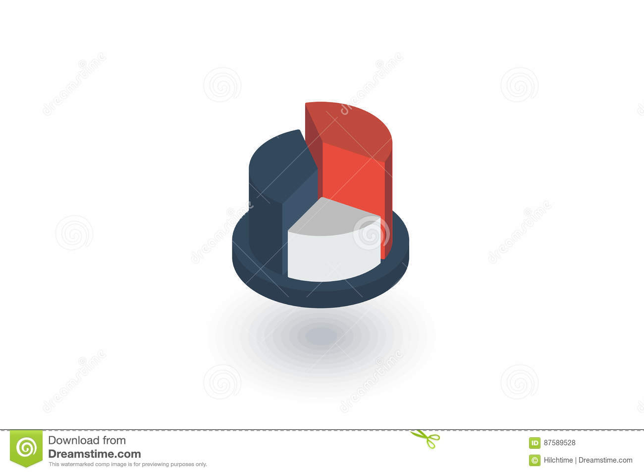 Graph Chart Pie Diagram Isometric Flat Icon 3d Vector Stock The Purpose Of An Is To