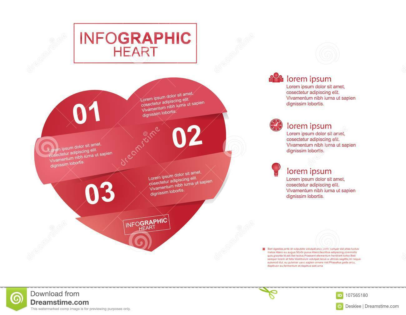 Business infographic heart vector stock vector illustration of graph chart project plan form education numbers file data icon template timeline diagram medical love valentine heart organization step ccuart Images