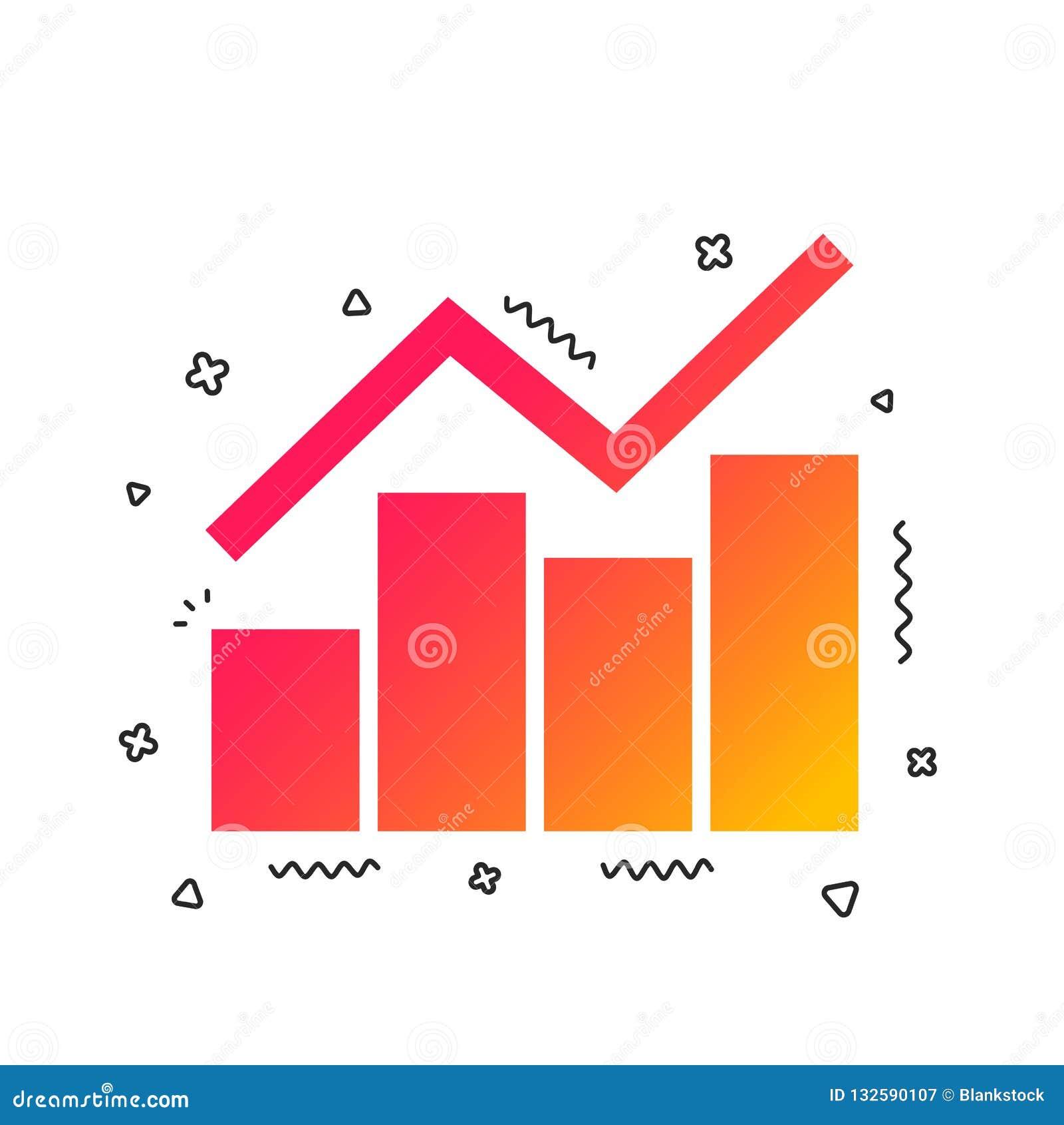 Graph Chart Sign Icon  Diagram Symbol  Vector Stock Vector