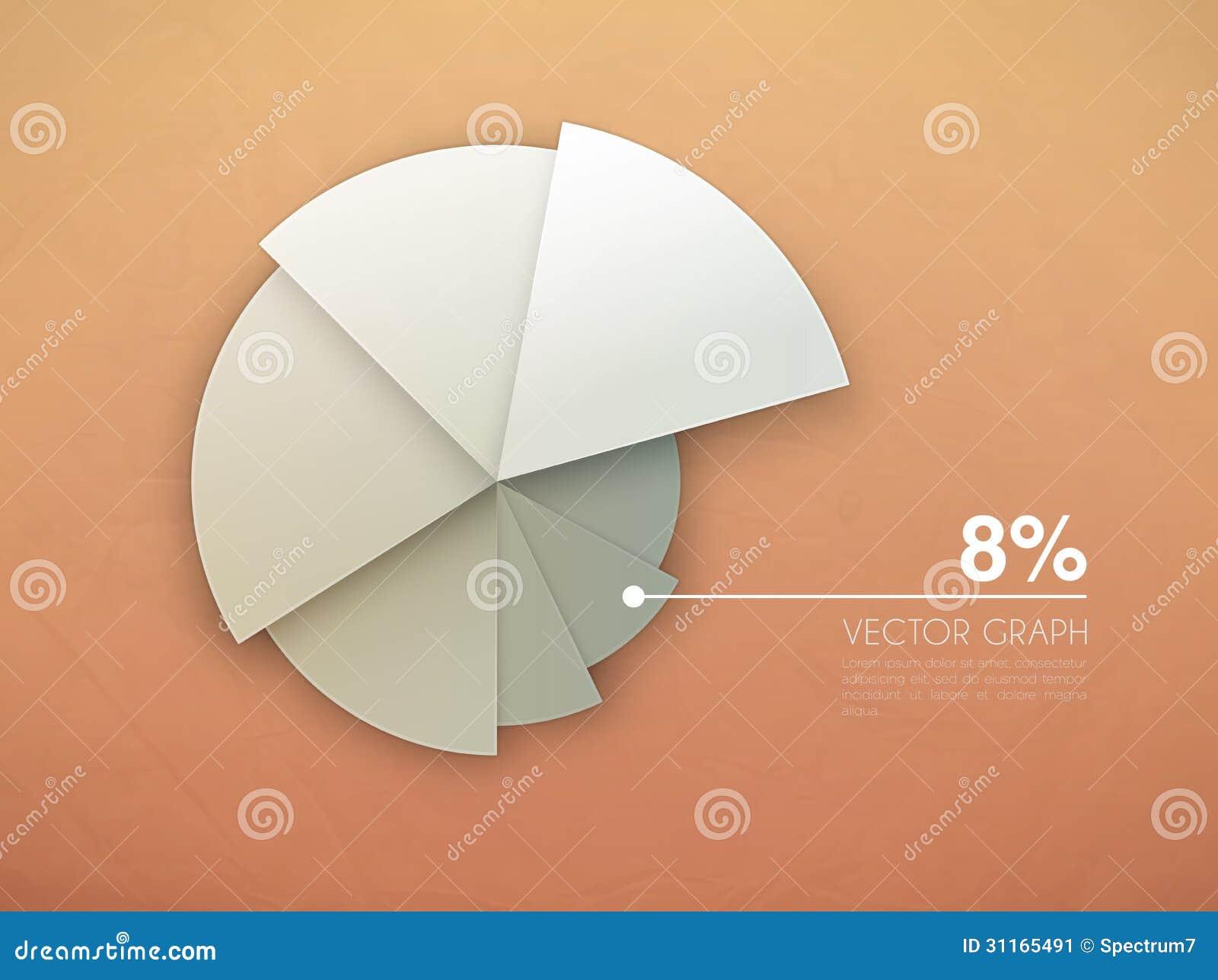 Graph diagram vector pie chart stock vector illustration of graph diagram vector pie chart geenschuldenfo Images