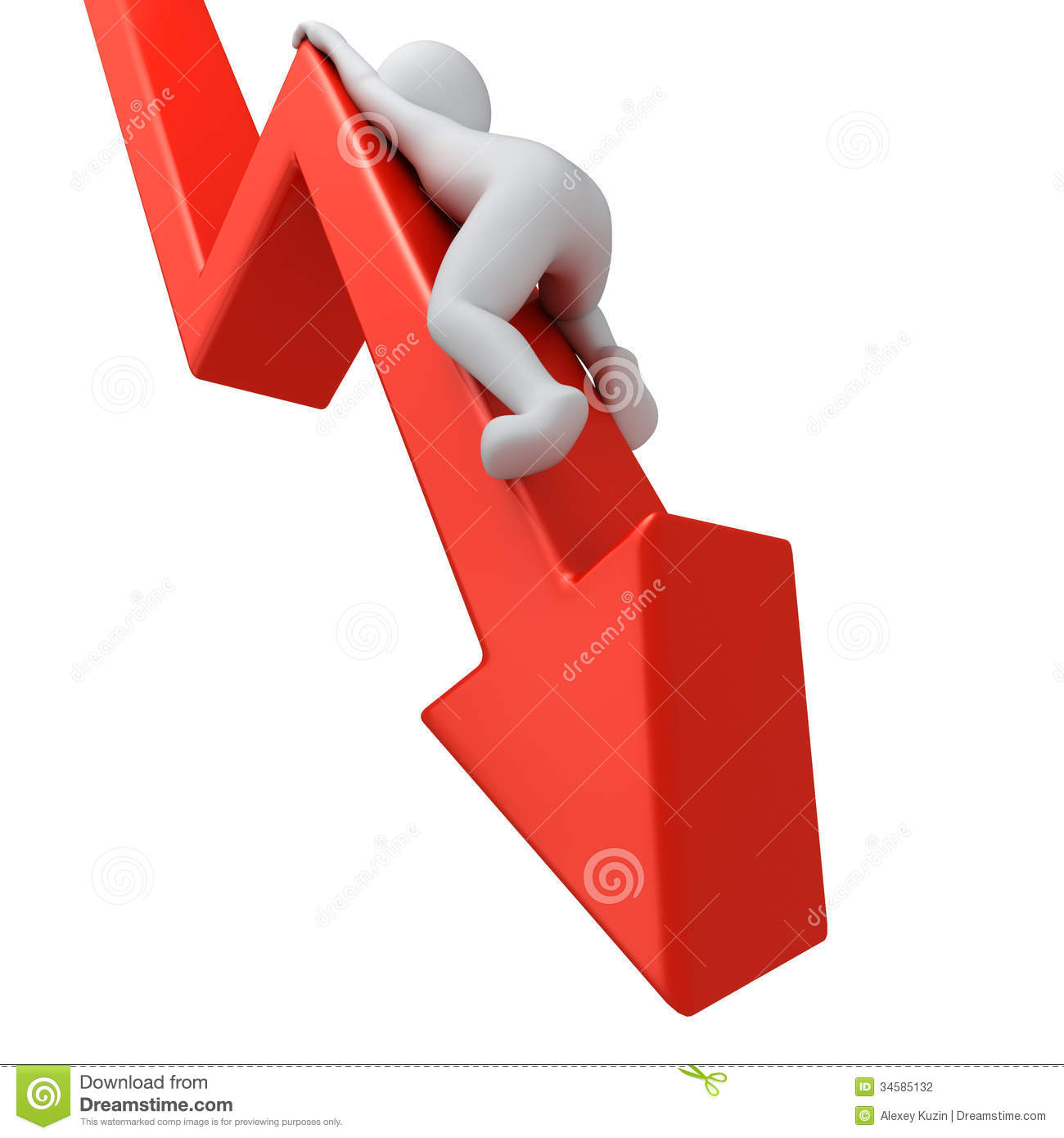 Stock Photography Graph Down Red Clambering D Human Image34585132