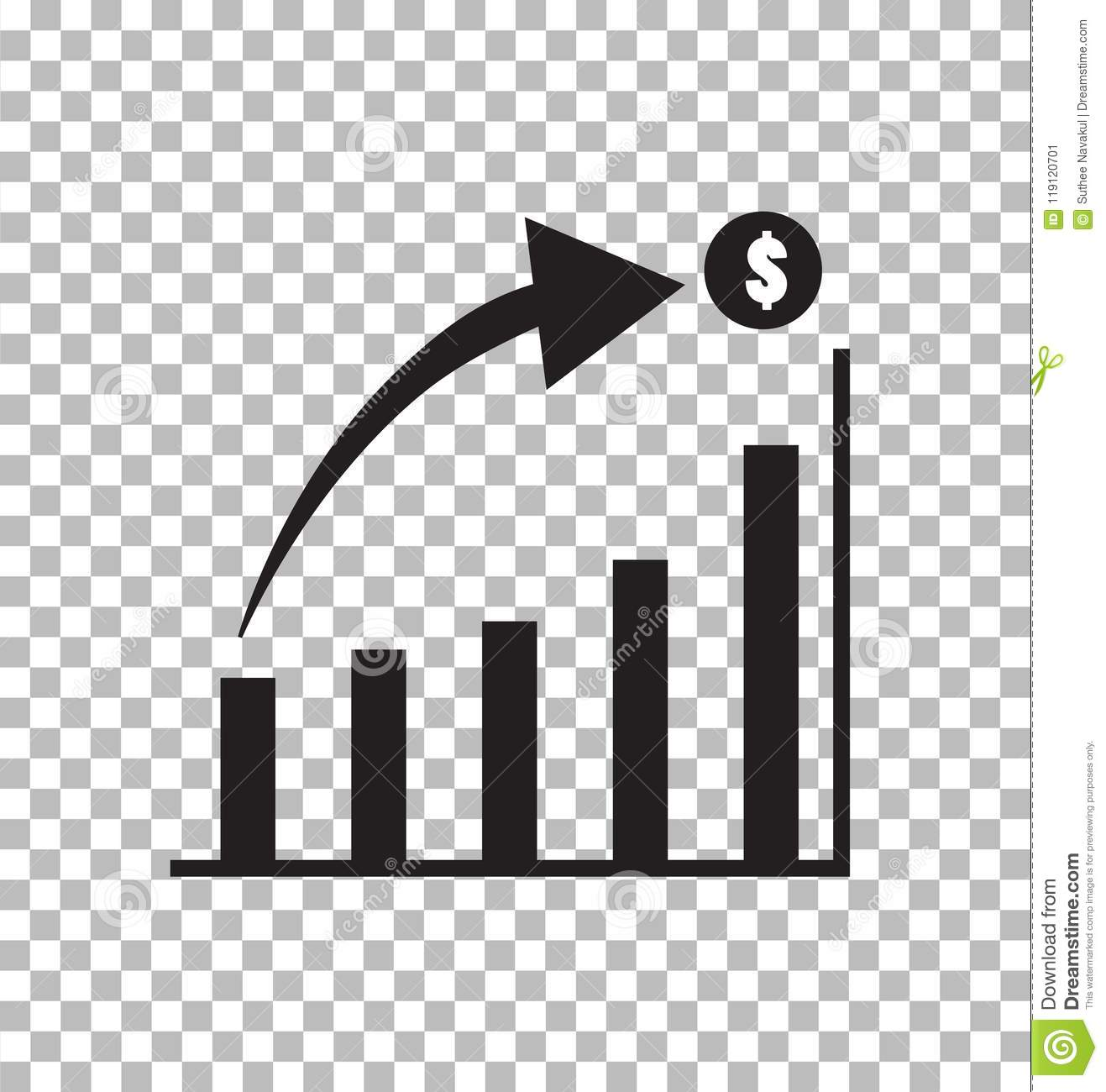 Graph Icon In Trendy Flat Style Isolated On Transparent