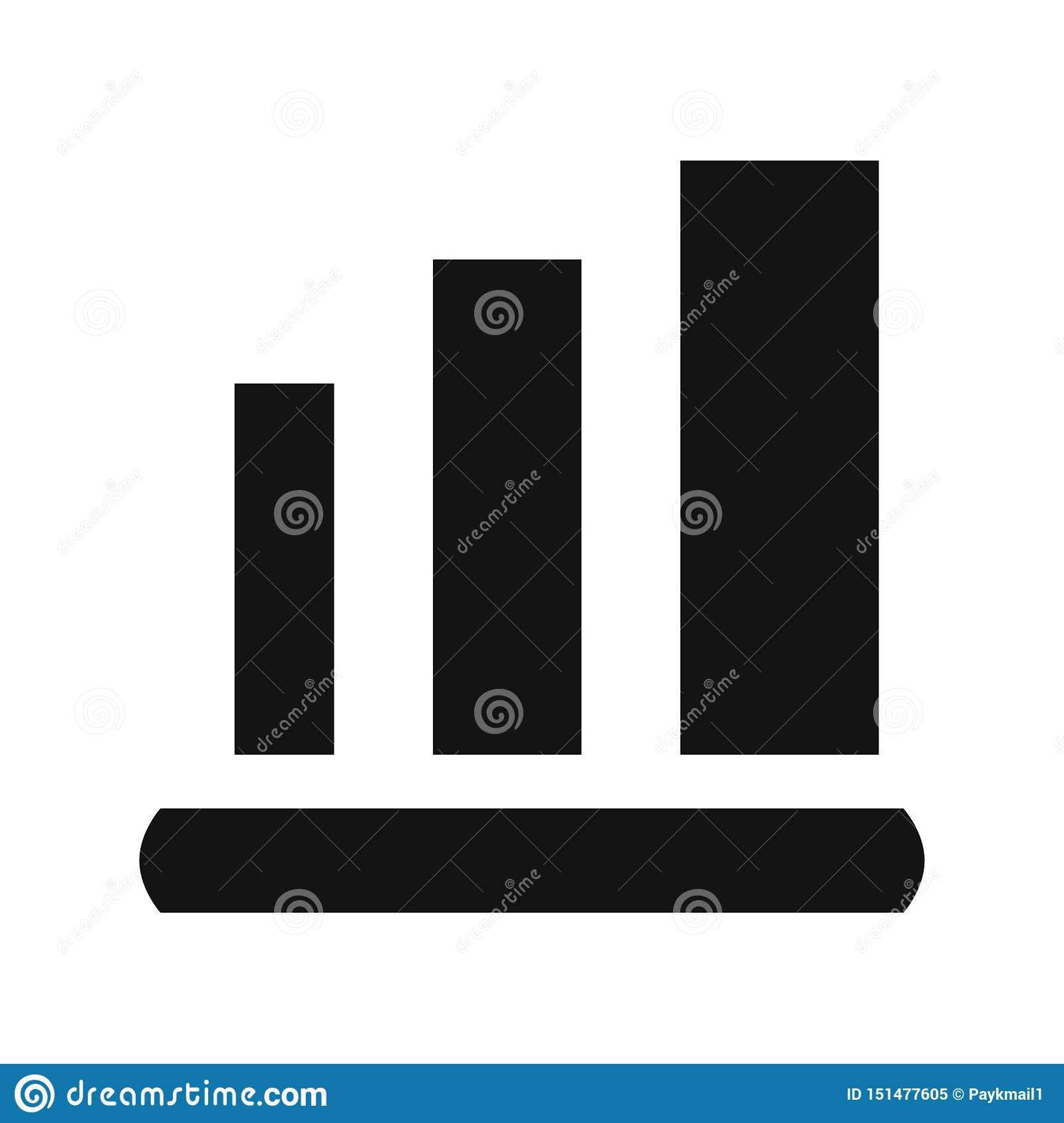 Graph Icon in trendy flat style isolated on white background. Chart bar symbol for your web site design, logo, app, UI.