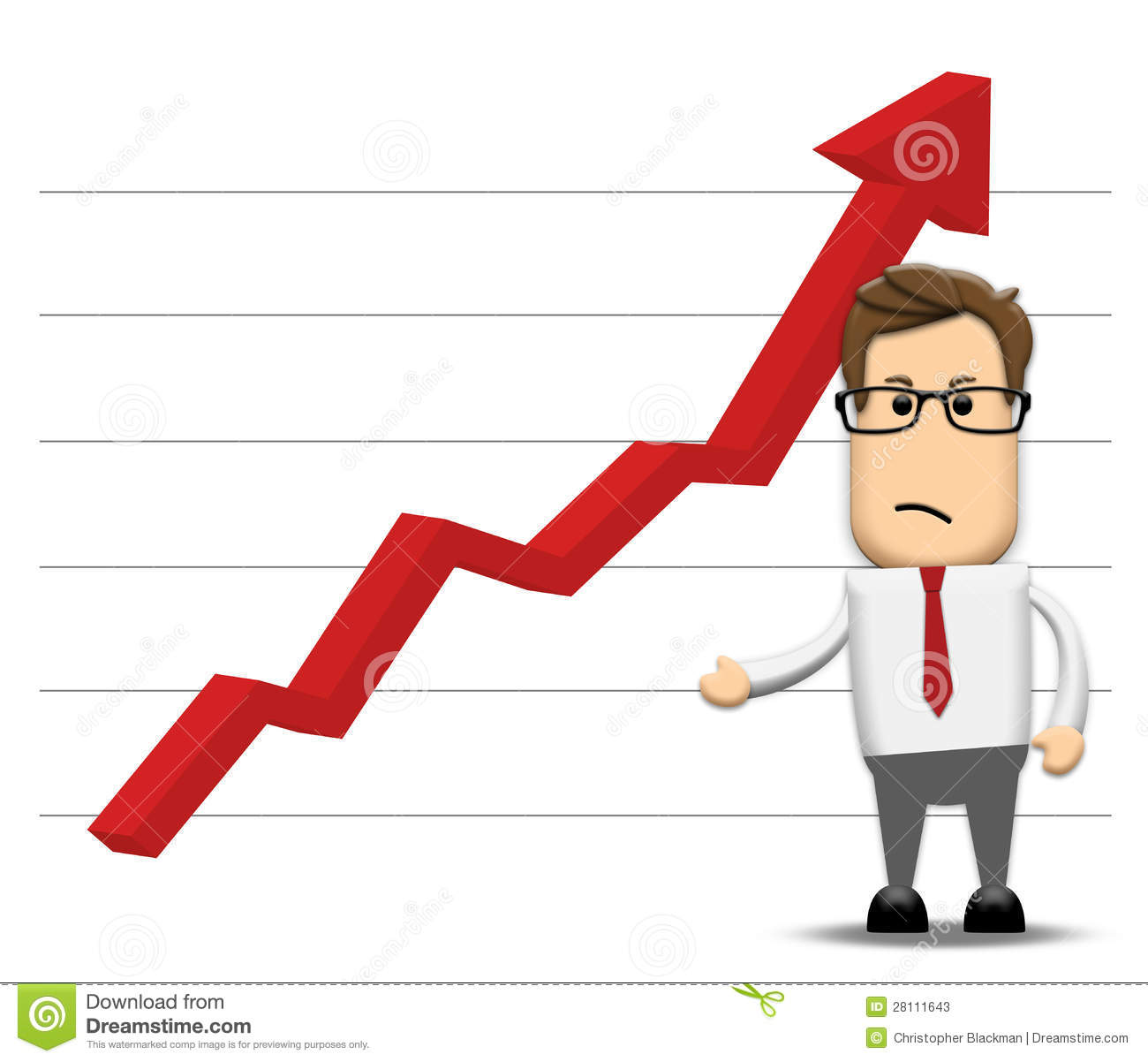 Graph Negatively Increasing Stock Photos - Image: 28111643