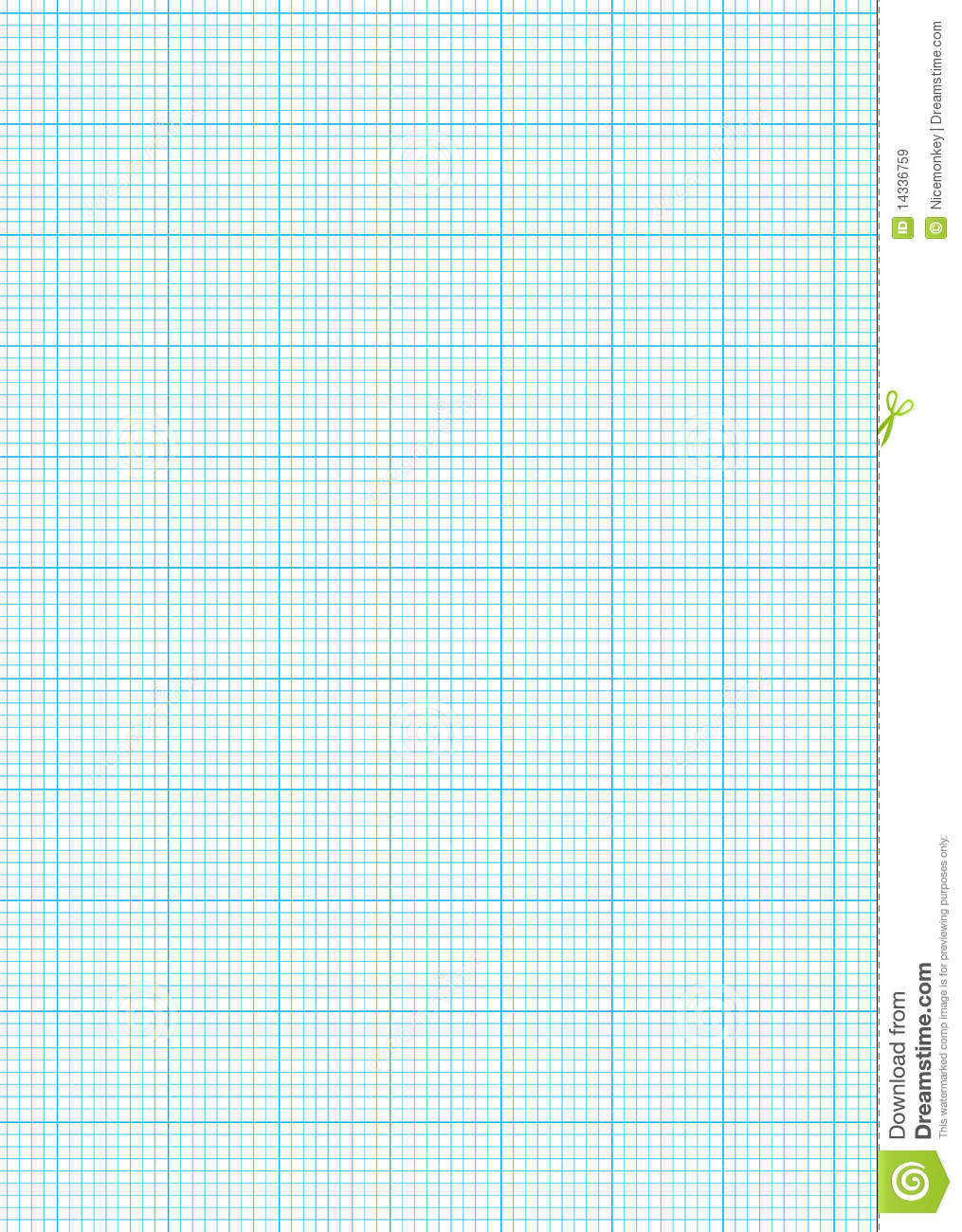 Graph Paper A4 Sheet Royalty Free Stock Images - Image: 14336759