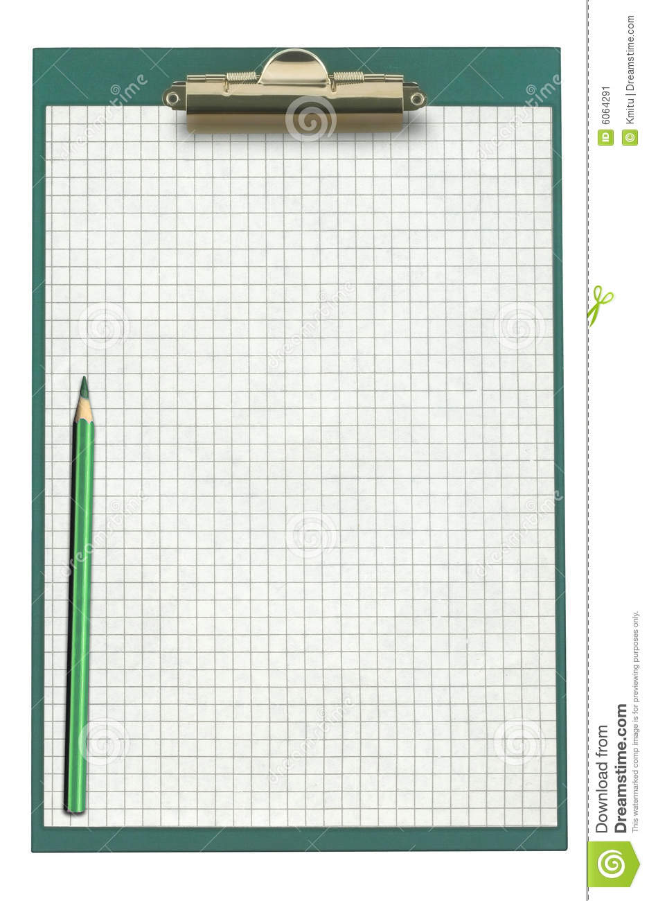 graph paper on clipboard stock image  image of spring