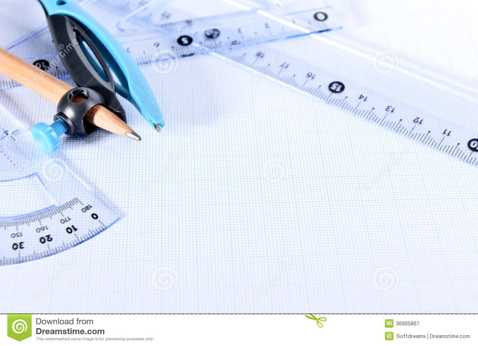 graph paper stock image image of circle idea drawing 36905867