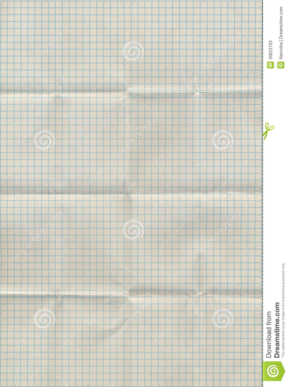 graph paper folded stock image  image of worn  backdrop