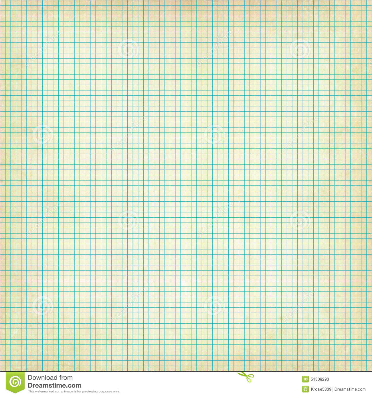 graph paper grid with grunge texture stock photo