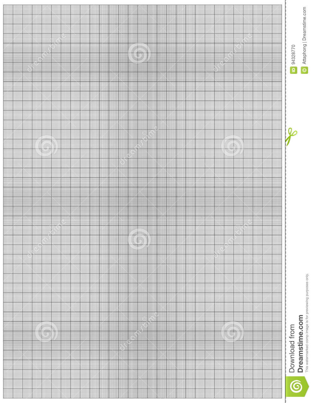graph paper 1mm square a3 size vector stock vector
