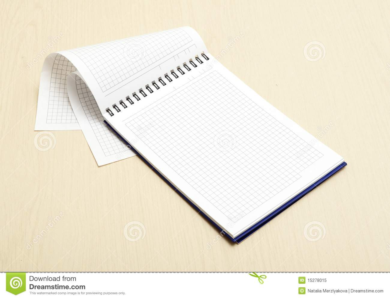 graph paper notebook stock image  image of space  lined