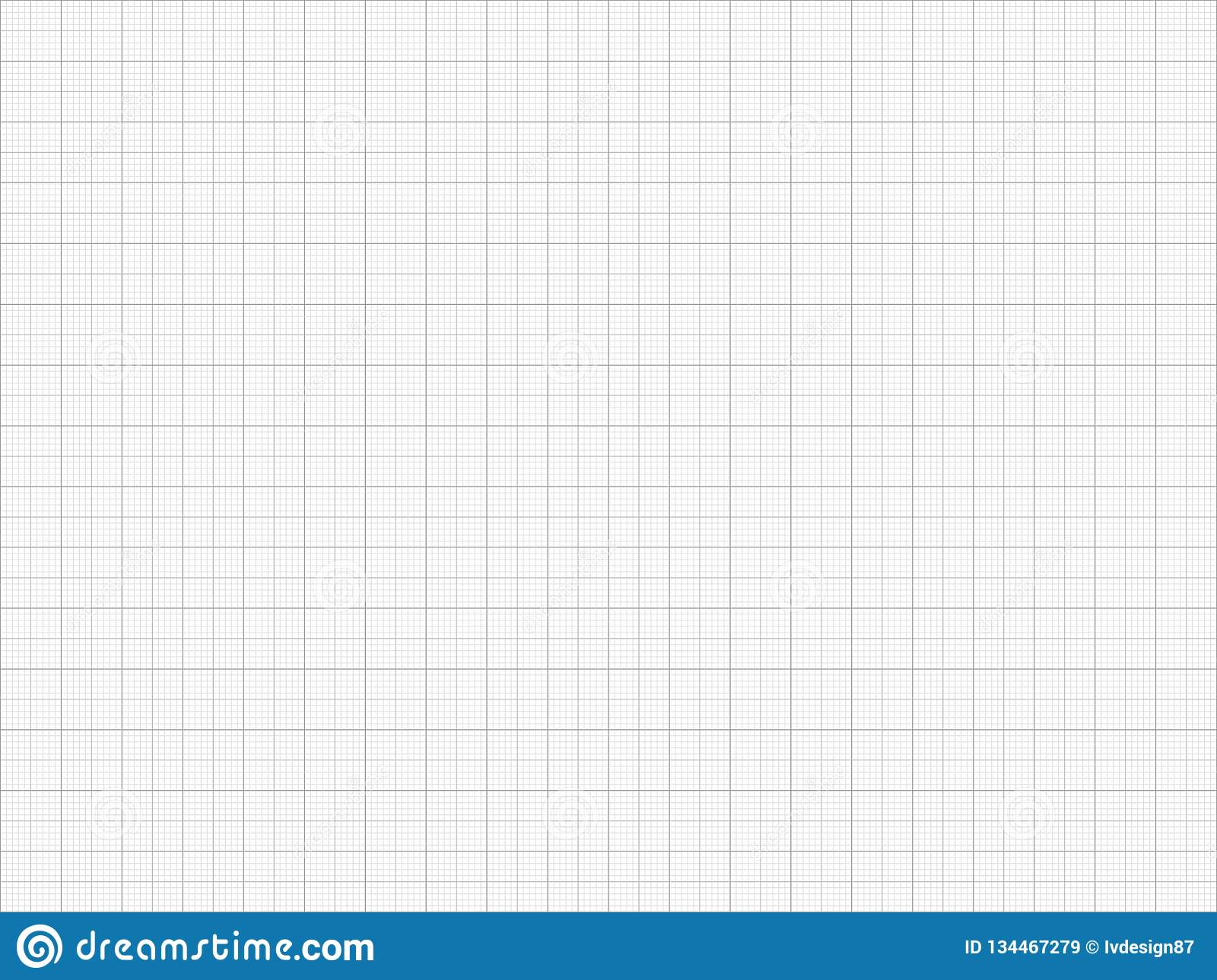 Graph Paper  Seamless Pattern  Vector Grid Template Stock