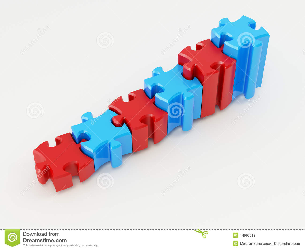 Graph From Puzzle Royalty Free Stock Images Image 14996019