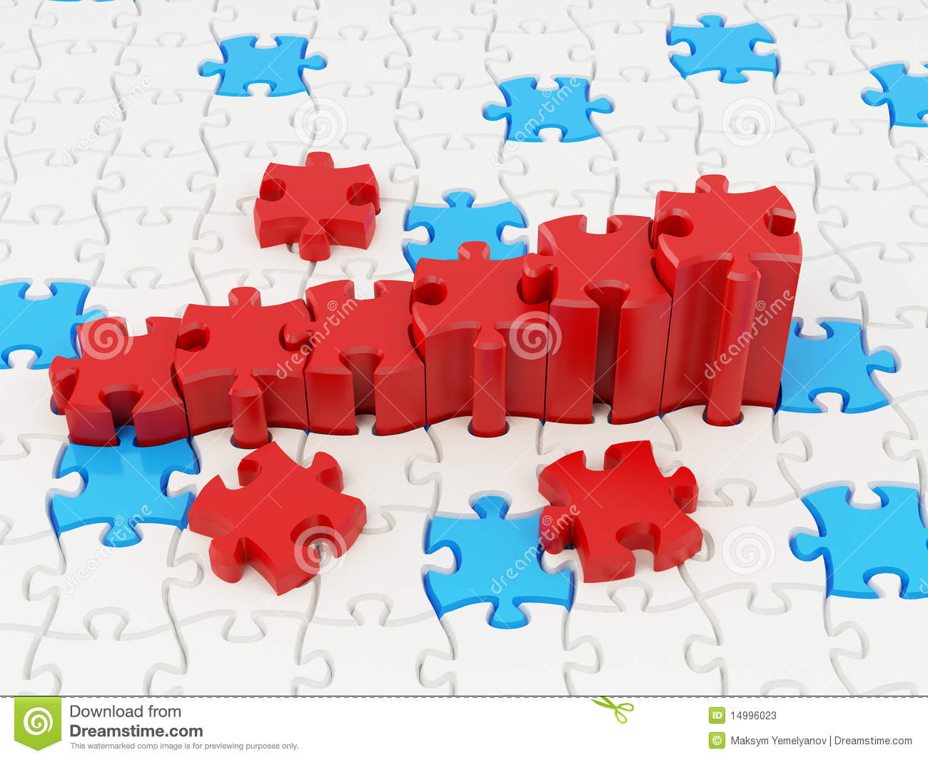 Graph From Puzzle Stock Photos Image 14996023