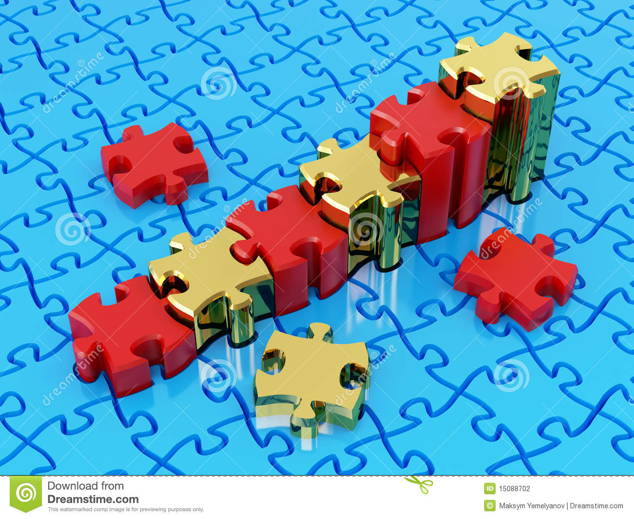 Graph From Puzzle Stock Photography Image 15088702
