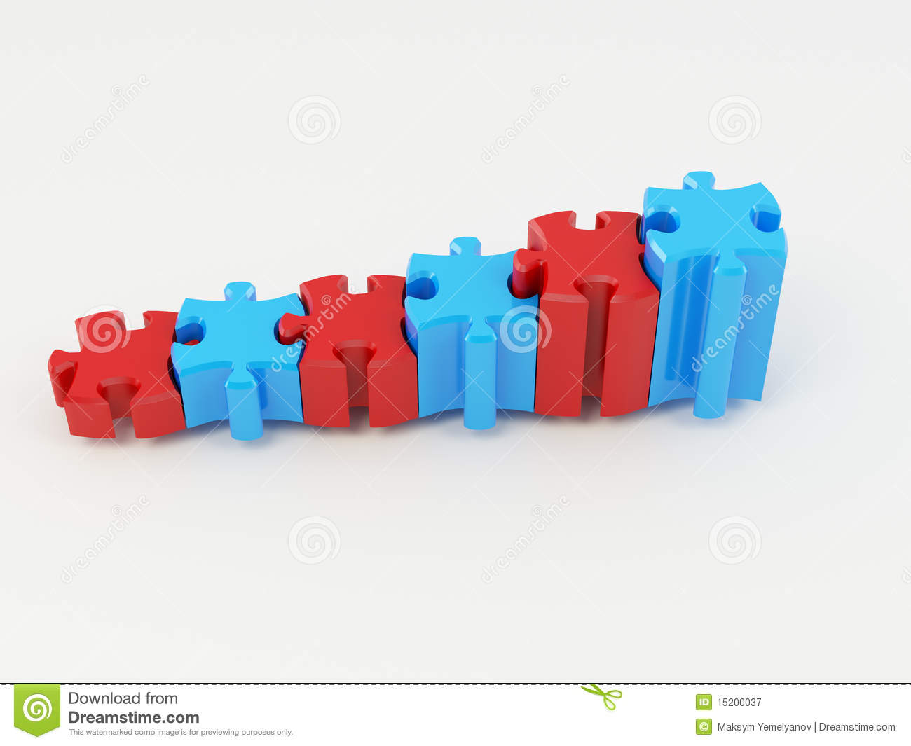 Graph From Puzzle Royalty Free Stock Photography Image