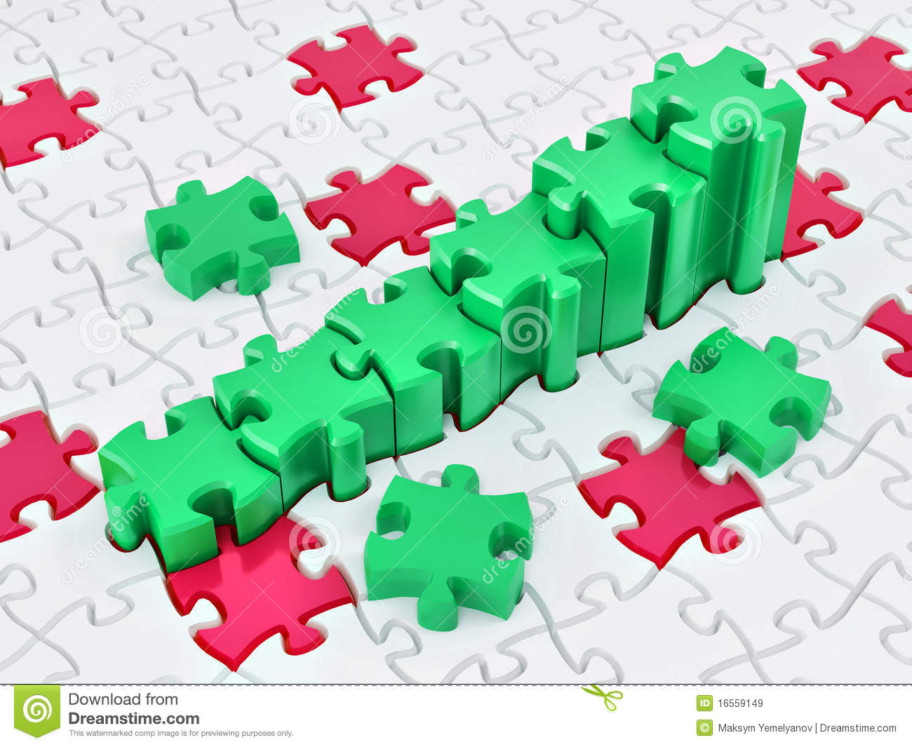 Graph From Puzzle Royalty Free Stock Images Image 16559149