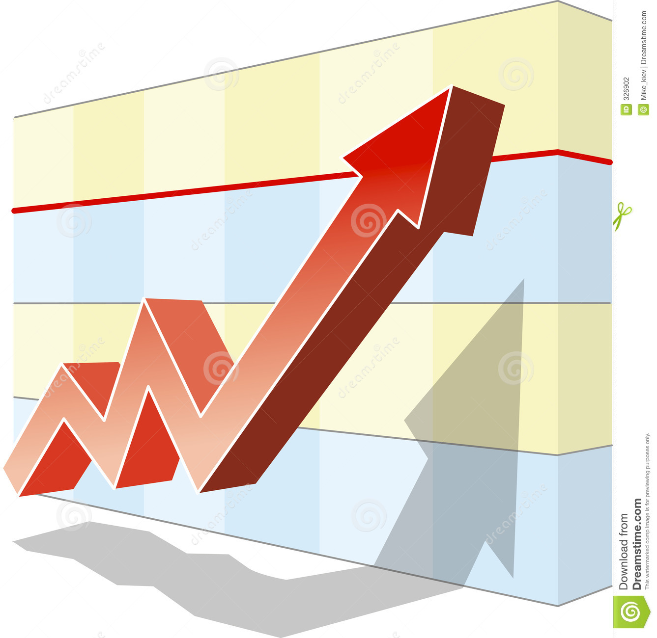 Download Graph of success stock vector. Illustration of successfully - 326902