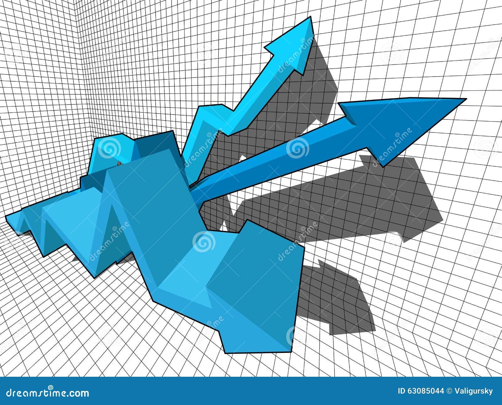 Download Graphe illustration de vecteur. Illustration du economics - 63085044