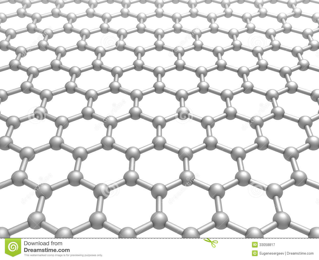 graphene layer structure schematic 3d model royalty free