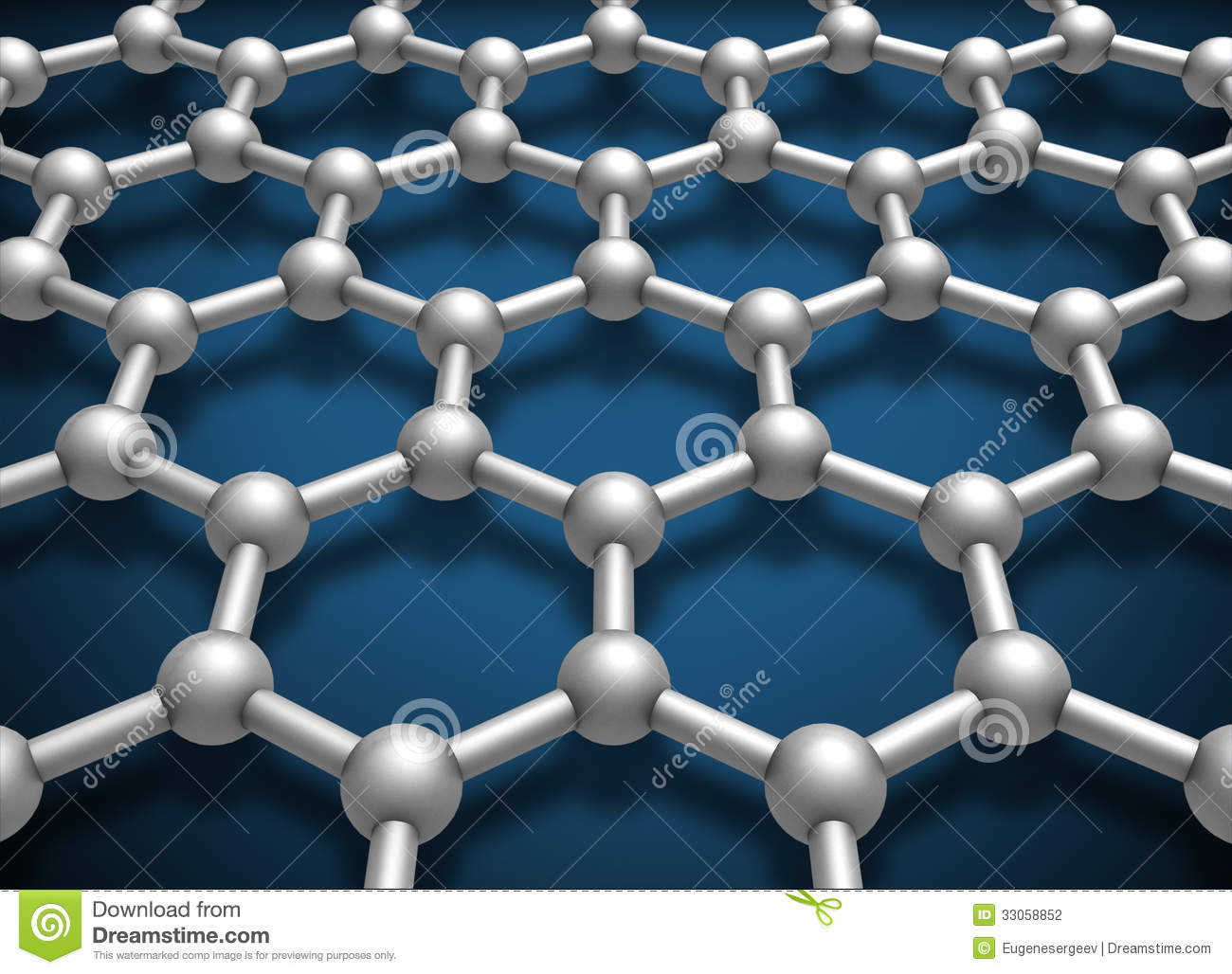 Graphene Layer Structure Schematic Model Stock