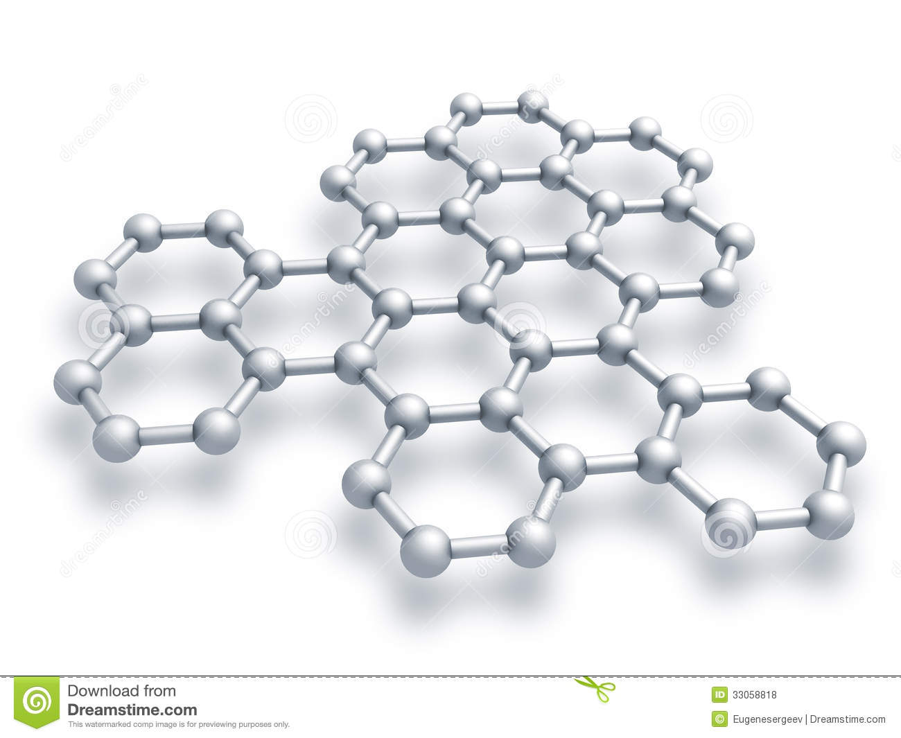 Graphene Structure Fragment Stock Illustration