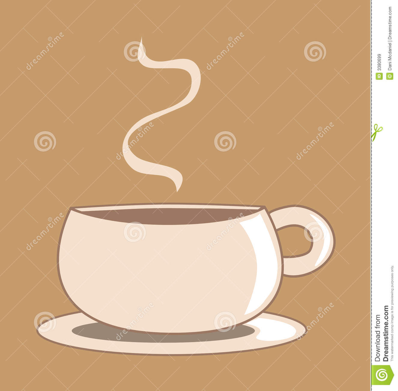 Graphic Coffee Cup Royalty Free Stock Images - Image: 3380699