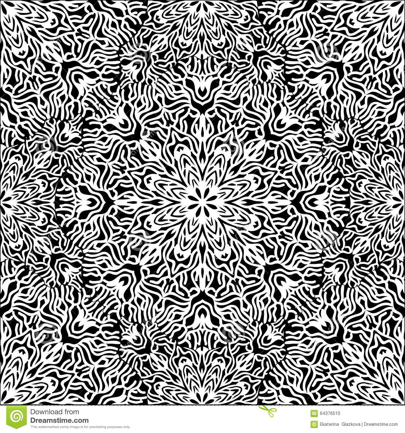 Abstract Circle Coloring Pages : Graphic coral circle pattern stock vector image