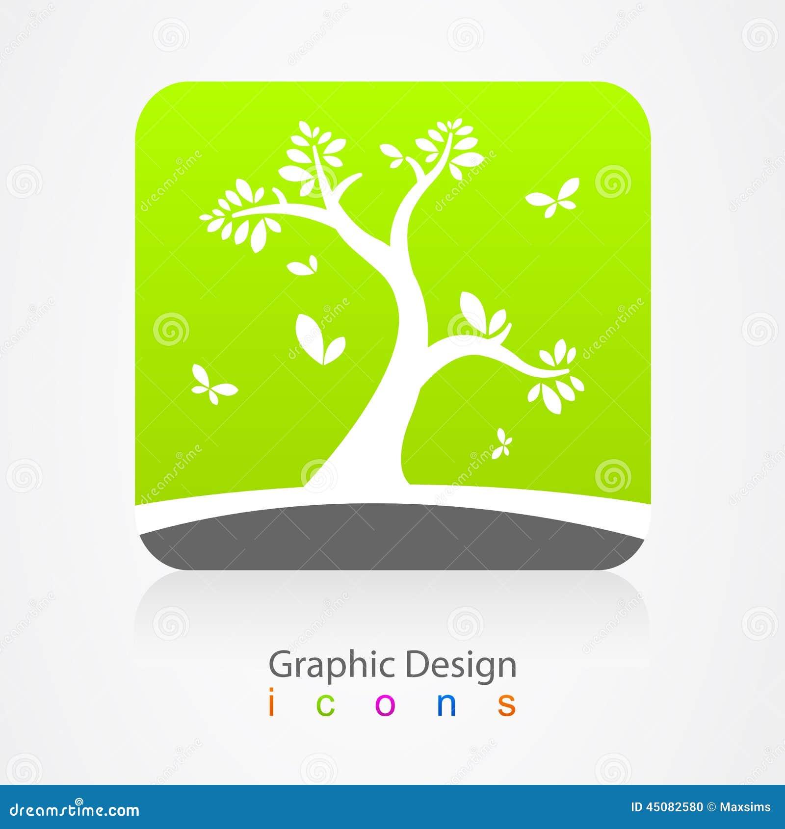 Vector graphic design business logo - Graphic Design Business Logo Tree Sign