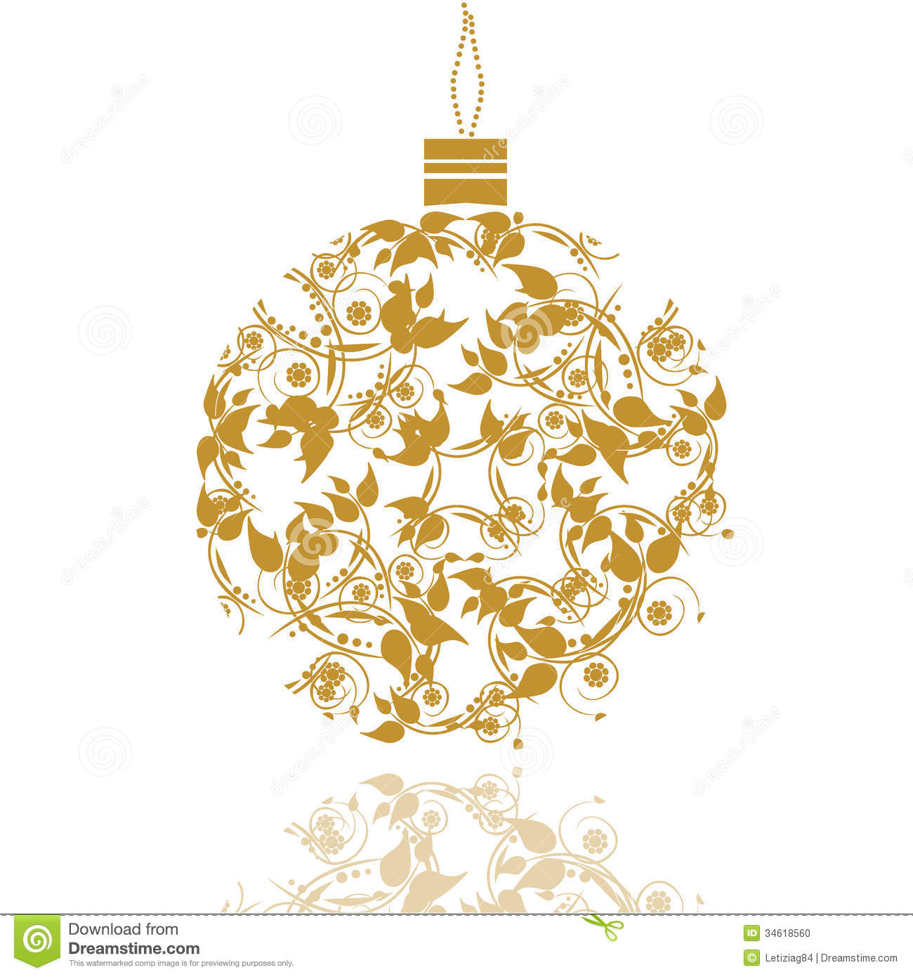 Graphic Design Christmas Ball Stock Photo Image 34618560