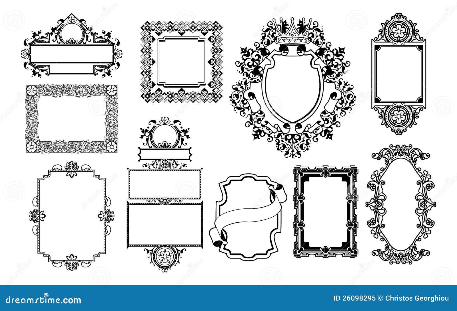Graphic Design Decorative Frames Stock Vector - Illustration of ...