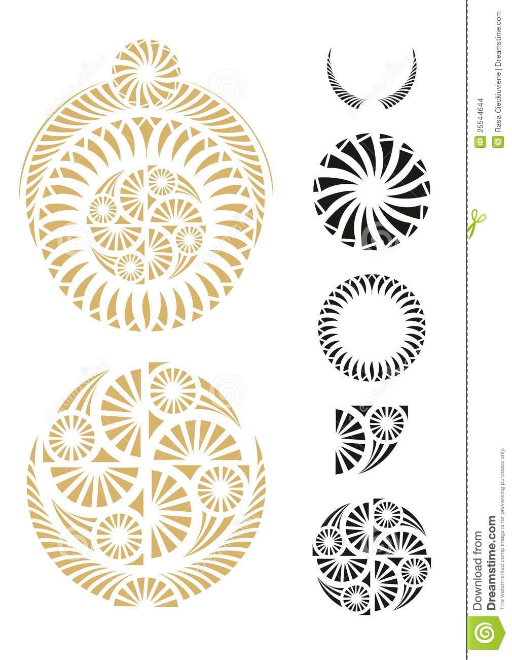 Visual Design Elements : Graphic design elements stock vector image of floral
