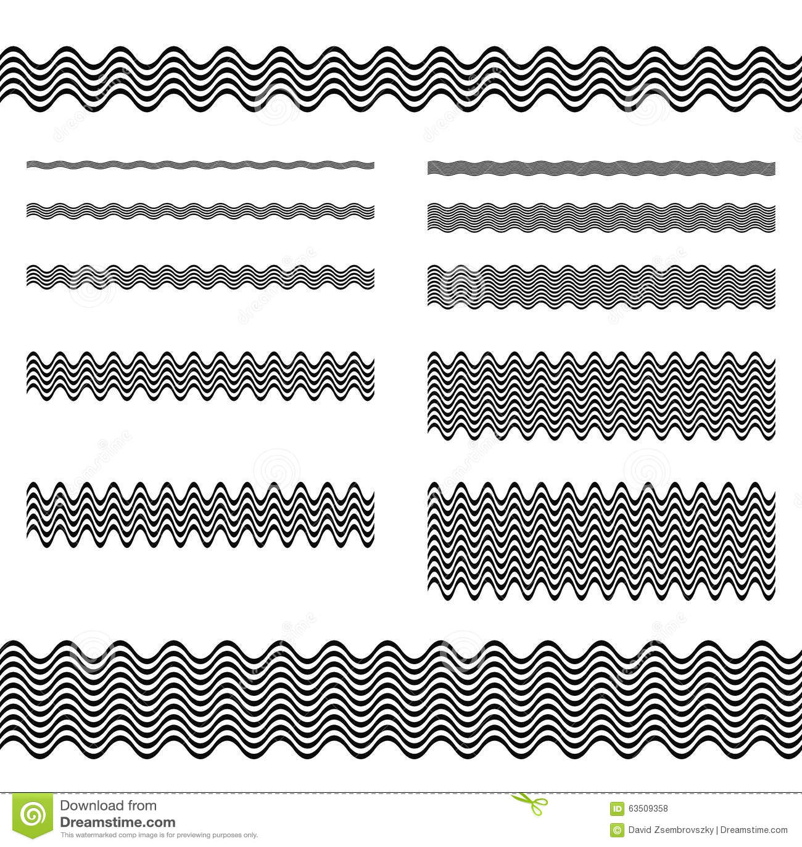 Graphic Design Elements Line : Graphic design elements page divider line set stock